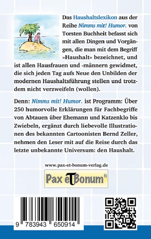 Buchcoverrückseite: Kochen, Kinder, Katastrophen von Torsten Buchheit bei Pax et Bonum®